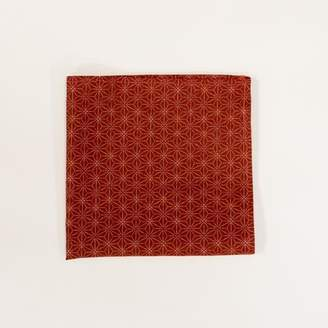 Blade + Blue Red Geometric Floral Cotton Pocket Square