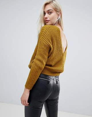Asos (エイソス) - ASOS DESIGN chunky sweater with v back