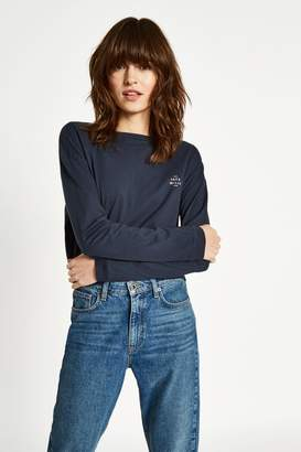 Jack Wills Farns Long Sleeve Graphic T-Shirt