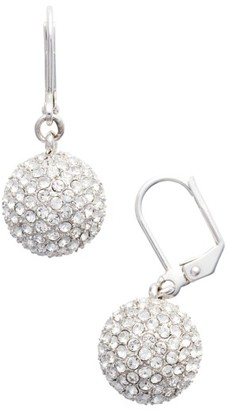 Women's Nina Pave Ball Drop Earrings $95 thestylecure.com