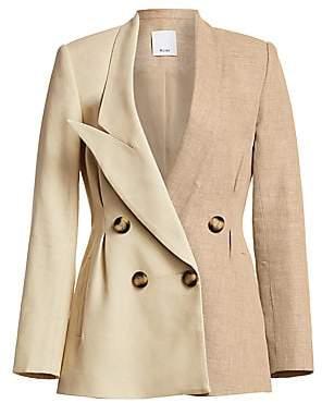 Acler Women's Belvue Linen Cotton Blazer