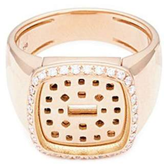 Pain De Sucre Fred 'Pain de sucre' diamond 18k rose gold signet ring