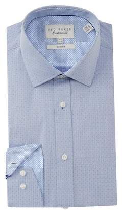 Ted Baker Endurance Slim Fit Herringbone Dress Shirt