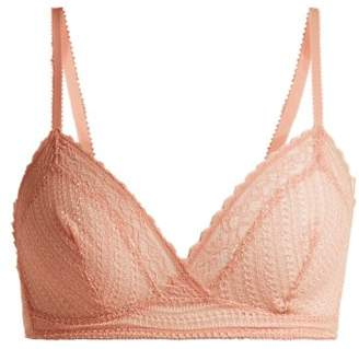 Eres Jazzy Leavers Lace Triangle Bra - Womens - Light Pink