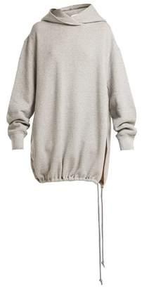 Raey Split Side Japanese Jersey Hooded Sweatshirt - Womens - Grey