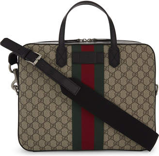 Gucci Supreme canvas briefcase
