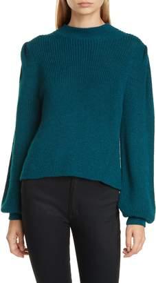 Eleven Paris Six Mia Mock Neck Alpaca Sweater