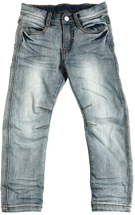 Jeans Aus Stretch-Denim Mit Vintage-Effekt