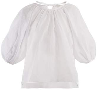 Cecilie Bahnsen - Astrid Puff Sleeved Cotton Top - Womens - White