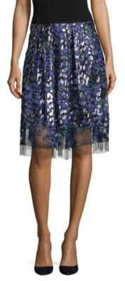 Elie Tahari Nicolette Floral Embroidered Skirt