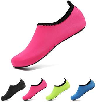 Coolloog Barefoot Water Shoes Water Sports Skin Shoes Anti-Skid Aqua Socks for Beach Surf Yoga Swim Diving Exercise