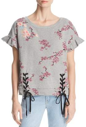 Billy T Lace-Up Sweatshirt Top