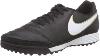 Nike Men's Tiempo Genio II Leather TF Turf Soccer Cleat (Sz. 7) Black