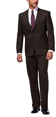 Haggar J.M. Premium Stretch Sharkskin Classic Fit Chocolate Suit Jacket