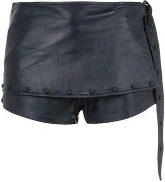 Andrea Bogosian layered leather shorts