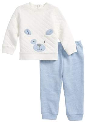 Little Me Puppy Sweatshirt & Sweatpants Set