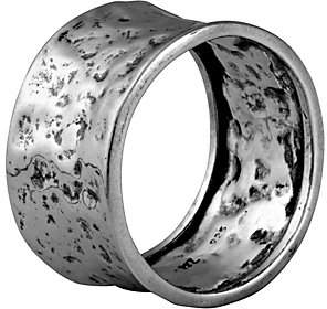 Or Paz Sterling Silver Men's Hammered Band Ring