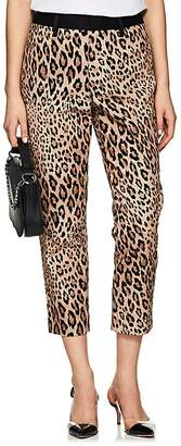Frame Women's Cheetah-Print Moleskin High-Rise Pants