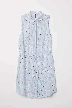 H&M Sleeveless Shirt Dress - Blue