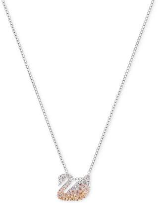 "Swarovski 15"" Silver-Tone Ombré Pavé Pendant Necklace $79 thestylecure.com"