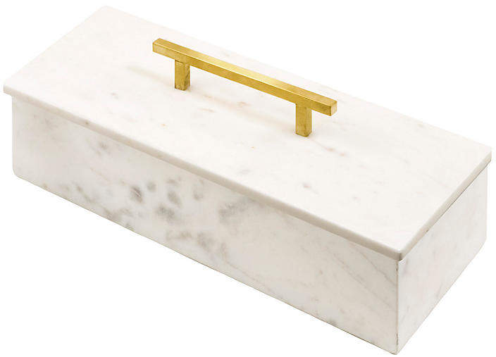 Ariel Box - White/Gold - 5
