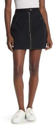 Rebecca Minkoff Marigold Front Zip Mini Skirt