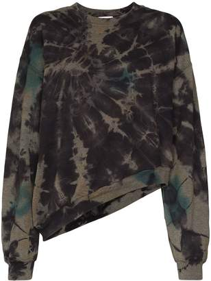 Collina Strada Wave oversized tie-dyed sweatshirt