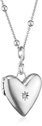 Hot Diamonds Spontaneous Silver And Diamond Locket Pendant 45 cm