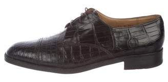 Gravati Alligator Derby Shoes