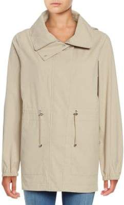Bernardo Hooded Drawstring Anorak Jacket