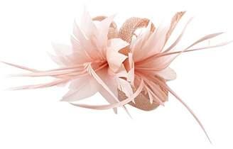 La Vogue Women Small Sinamay Fascinators Feather Flowers Hair Clip Bridal