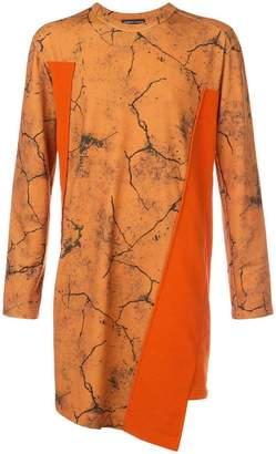 Comme des Garcons asymmetric print sweatshirt