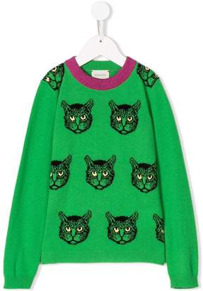 Gucci Kids Mystic Cats jumper