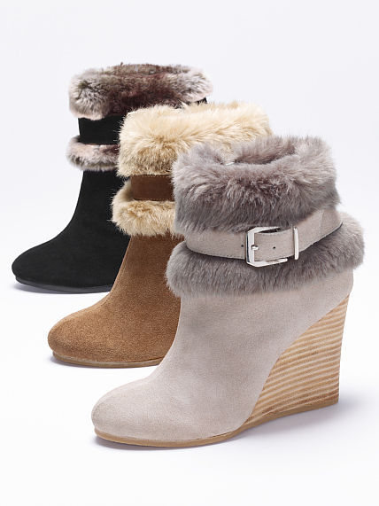 Victoria's Secret Collection Cuffed Wedge Bootie