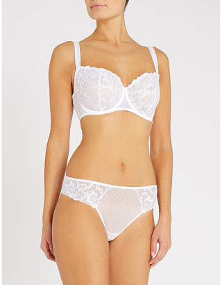 Aubade Wandering Comfort embroidered stretch-tulle full cup bra