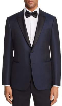 Emporio Armani Tonal Dotted Slim Fit Tuxedo Jacket