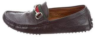 Gucci Horsebit Web-Trimmed Loafers