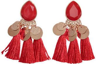 H&M Tasseled Earrings - Red