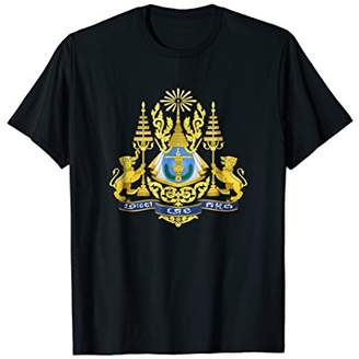 Cambodia Cambodian Coat Of Arms Emblem Symbol T-Shirt