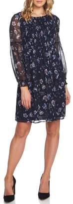 CeCe Smocked Floral Babydoll Dress