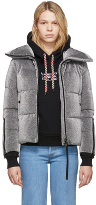 Moncler Silver Down Bandama Jacket