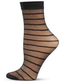 Dim Women's Striped Ankle Socks