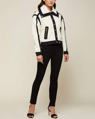 Juicy Couture Contrast Twill Sherpa Jacket
