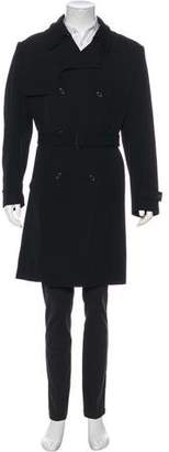 Louis Vuitton Double-Breasted Wool Trench Coat