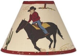 "JoJo Designs Sweet Wild West Cowboy 10"" Cotton Empire Lamp Shade Sweet"