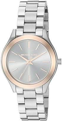 Michael Kors Women's Mini Slim Runway -Tone Watch MK3514