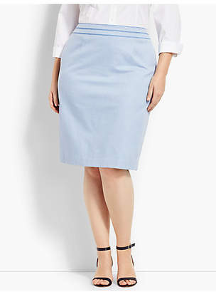Talbots Birdseye Pencil Skirt