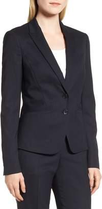 BOSS Jamahina Monostripe Stretch Wool Suit Jacket