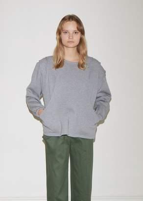 Vejas Tiered Cotton Fleece Sweatshirt