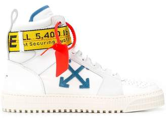 Off-White hi-top branded sneakers
